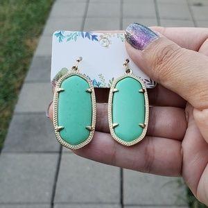 Kendra Scott Elle earrings mint and gold